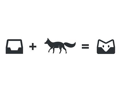 Fox mailbox tool icon logo app fox icon