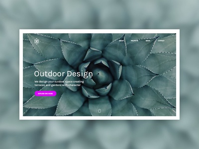 Outdooring interaction ux plant projects nature website outdoor design