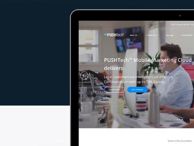 PUSHTech™  startups landing sms message pushtech marketing mobile notifications push dashboard campaign