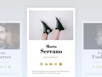 Daily UI  #006 User Profile social socialmedia white ui ux 100 mobile 006 dailyui design minimal profile