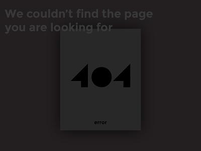 Daily UI  #008 - 404 page website design challenge dailyui errorpage dark page ui ux error 404