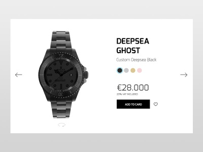 Daily UI Day 12 E-Commerce Shop (Single item) welcomeback 012 dailyui12 challenge watches design product ecommerce 12 dailyui