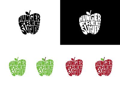 Hunger Free Summer logo logo branding typography illustration design nonprofit