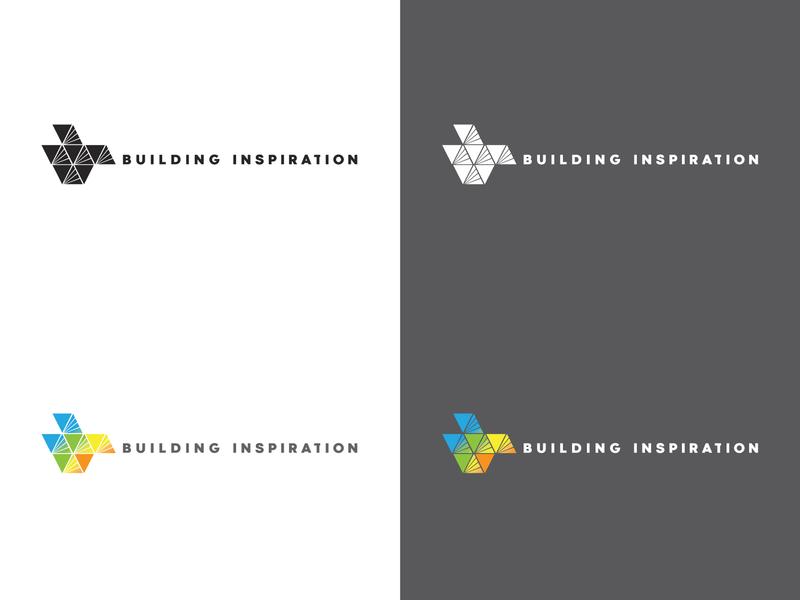 Building Inspiration campaign logo flat vector typography branding logo design nonprofit