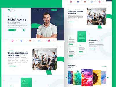 Digital Agency Web UI/UX Design visual design user interface landing page design uxdesign uidesign 2021 design design website business web business website business agency agency landing page agency website digital digital agency website digital agency