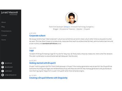 Junaidmasoodi.com design blog minimal technical