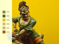 Color Palette - Chinese Statue