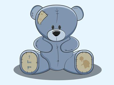 Плюшевый мишка игрушка мишка медведь медвежонок плюшевая игрушка рисунок vector illustration design