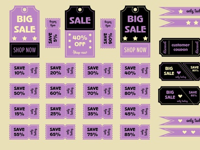 Discount cards, coupons design vector sales discounts discount cards discount coupons