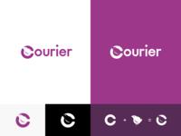 Courier Logo brand branding logomark glyph logo