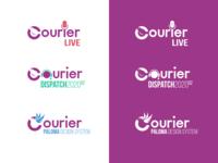 Courier Internal/External logos design system stream identity branding brand logo