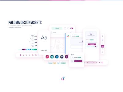 Paloma Design System interface color palette mobile minimal ui ui kit brand paloma design system