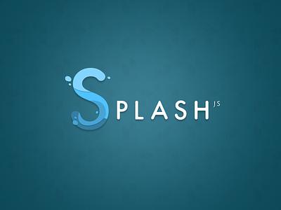 Splash JS Logo logo js identity water lettering