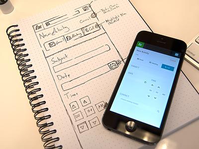 Logging Activity WIP ui sketch log minimal form mobile interface input ux