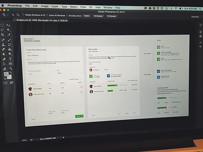 Measuring Goals ui ux wireframe hi-res icons interface modal minimal flat