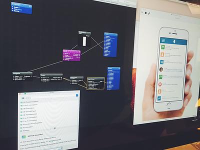 Prototype Origami ui ux design notifications prototype app