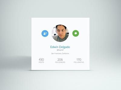 Twitter Widget profile design flat clean minimal twitter widget