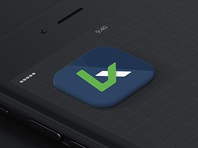 Updated LX logo dark mobile crisp flat iphone app icon logo