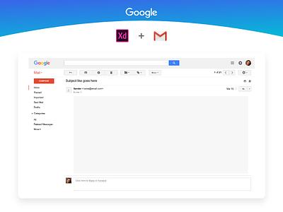 Gmail UI Kit Freebie - AdobeXD ui kit google ui free freebie adobe xd adobexd gmail