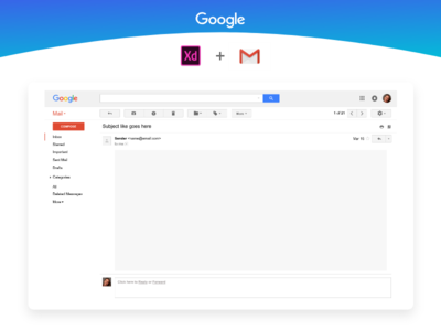 Gmail UI Kit Freebie - AdobeXD