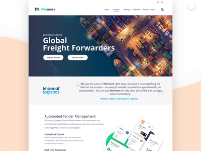ReLaunch Winmore Website Preview illustration ui web app crm minimal website