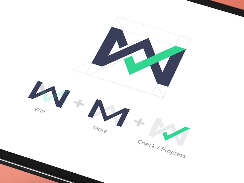 WM Logo logomark glyph more win progress wm logo