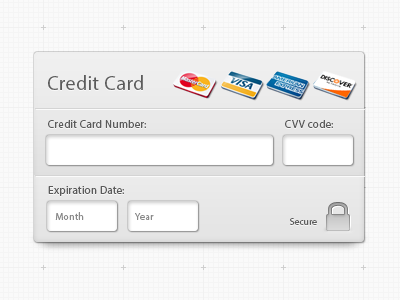 CreditCard Freebie credit card widget fields free freebie psd info ui interface