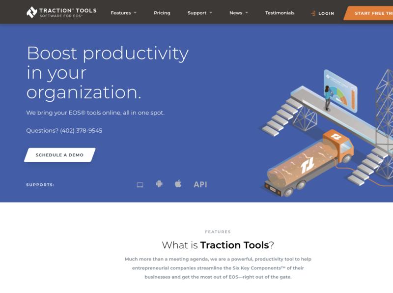 my traction tools illustration logo design design