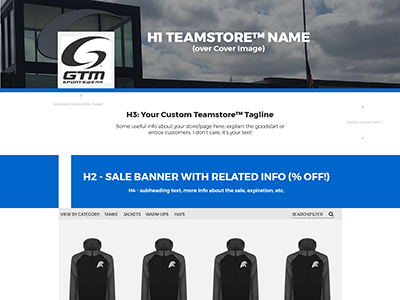 Teamstore Storefront