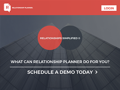 Relationship Planner CRM Landing Page