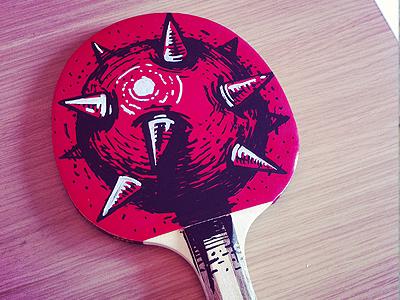 Ping Pong mace bulgaria trash lovers vice mister ao illustration table tennis puma social