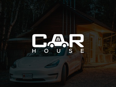 Car and house concept lettering graphic creative clean blue band black vector typography minimal logotype logodesign logo illustrator identity graphic design flat design calligraphy branding