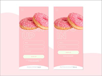 #001 // Sign Up dailyui 001 dailyui sketchapp sign up donuts ui
