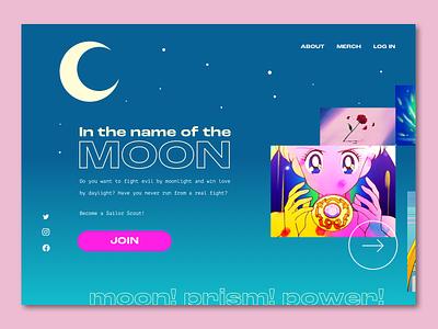 #003 // Landing Page sketchapp ui sailor moon landing page dailyui 003 dailyui