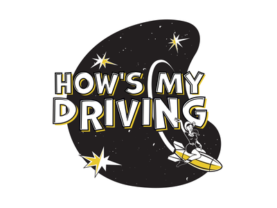 How's My Driving 1950s outer space retro logo band