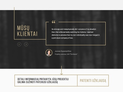 Web in process quotes slider customer clients recommendation flat design ux ui web