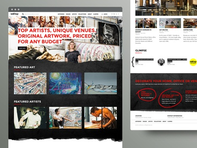 Wallhop 1 web layout artist art ux ui