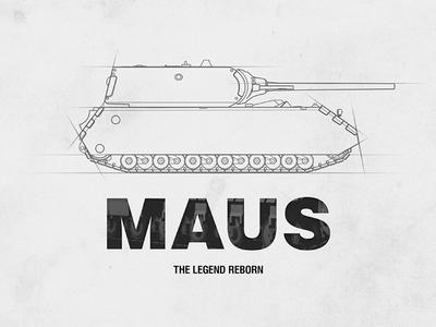 Presentation Shot layout presentation maus tank illustration typography
