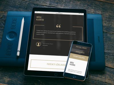 Landing Page corporate landing web ux ui
