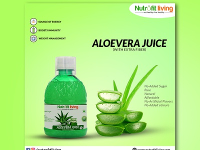 Aloevera juices branding ui design socialmedia