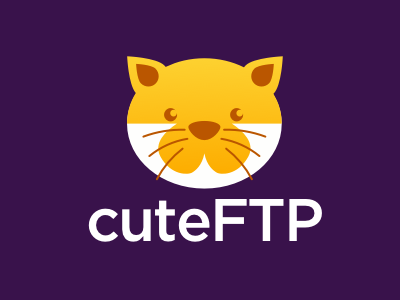 CuteFTP redesign exercise - Negative version redesign practice logo exercise