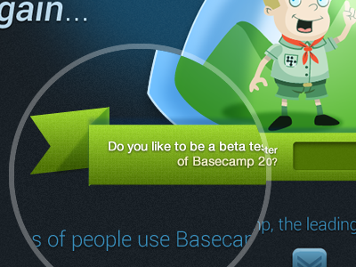 Basecamp2 Contest porposal Shot 2 web interface web design illustration