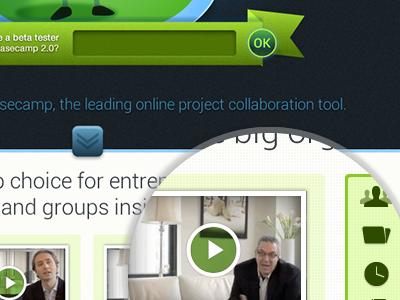 Basecamp2 Contest porposal Shot 3 web interface web design illustration