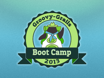 Groovy Grails Boot Camp 2013 logo branding graphic design illustration
