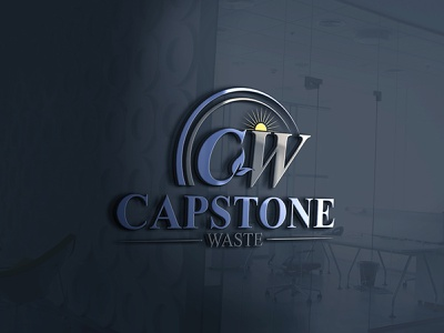 My New Capstone Waste Logo Design corporate illustration black creative caracterdesign blue vector brand logo design creative logo branding brand mockupdesign