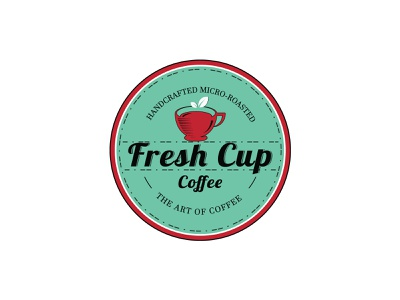 My Latest Project Fresh Cup Coffee logo design leaflet design leaf logo cups cupcakes marketing illustration branding fresh colors freshworks fresh logo fresh design coffee house coffee logo design coffee logo coffee bean coffee shop coffee cup coffee