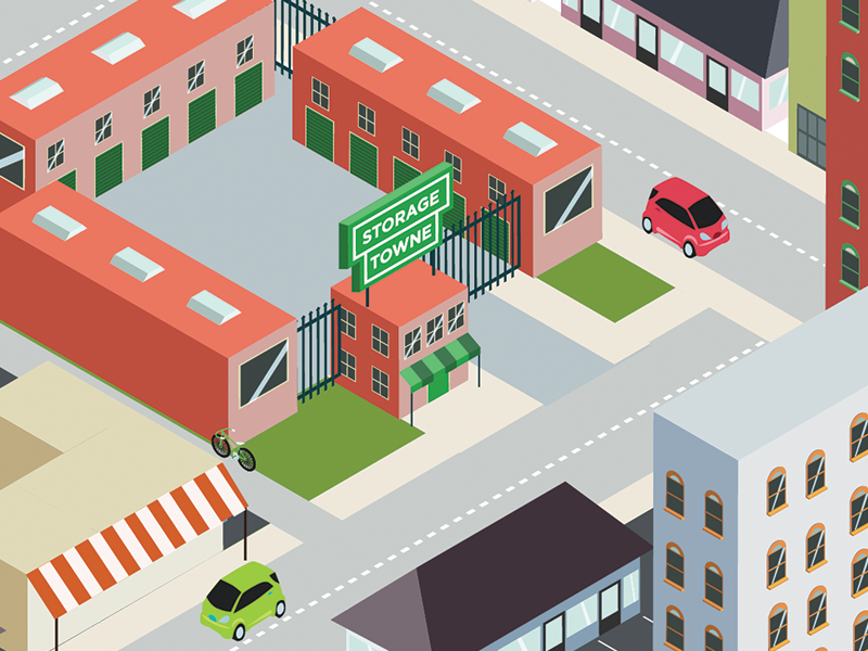 Isometric City isometric illustration vector flat