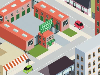 Isometric City isometric illustration vector flat