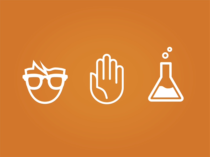 Nerd Science Icons icons flat monotone