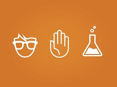 Nerd Science Icons icons flat monotone